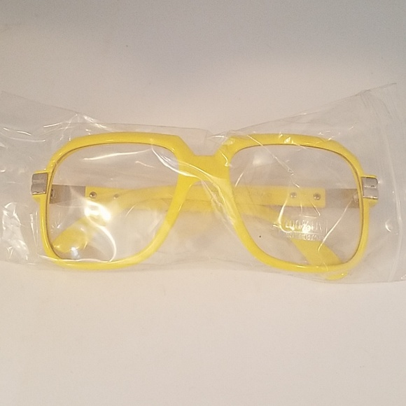 Other - Yellow clear lens glasses new